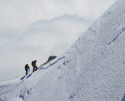 Ascension du Mont Blanc avec un guide par la voie classique
